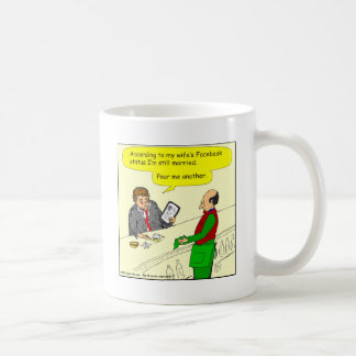 385 social media status married cartoon basic white mug