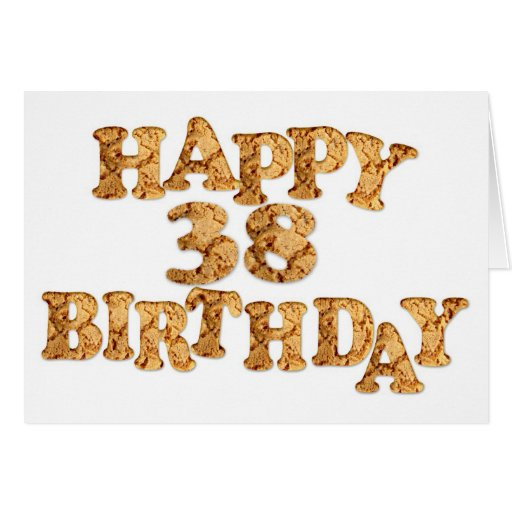 38th Birthday card for a cookie lover