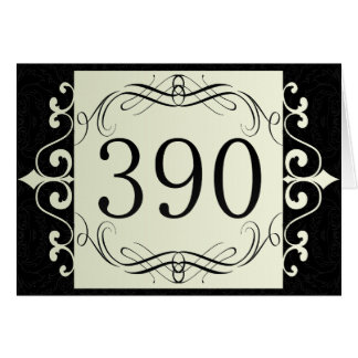 390 Area Code Greeting Cards