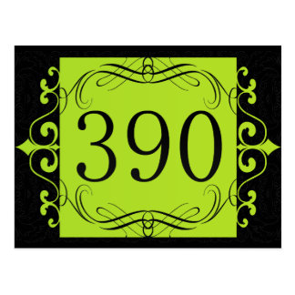 390 Area Code Post Card