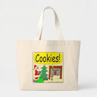 393 santa cookies cartoon bag