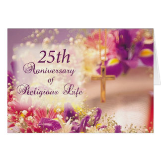 3992_25th Anniversary Religious Life Celebration Card