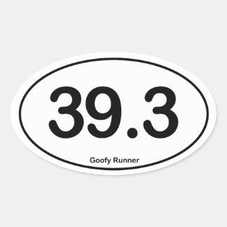 39.3 Goofy Runner - Oval Sticker