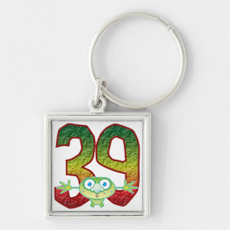 39 Age Ghoul Silver-Colored Square Key Ring