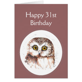 39th Birthday Who Loves You, Cute Owl Humour Greeting Card