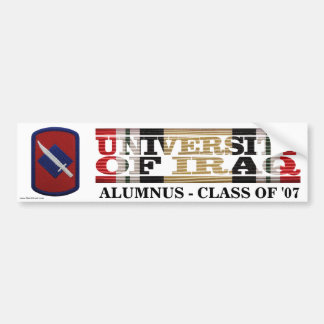 39th Infantry BCT U of Iraq Alumnus Sticker