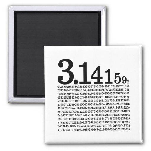 3.1415926 Pi Refrigerator Magnet