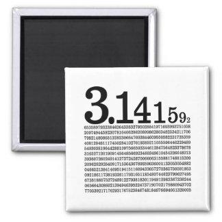 3.1415926 Pi Square Magnet