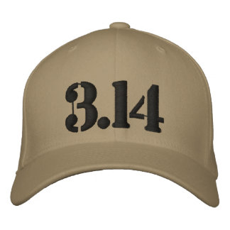 3.14 Pi embroidered Hat