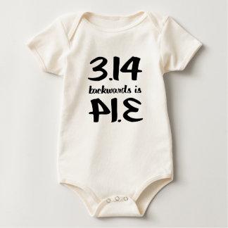 3.14 = Pie Spelled Backwards Baby Bodysuit