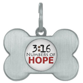 3:16 Numbers of Hope Custom Christian Pet Tag