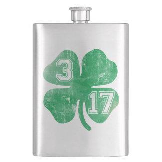 3/17 St Patrick's Day Shamrock Hip Flasks