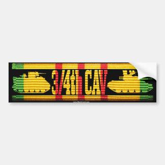3/4th Cav Track & Tank Bumper Sticker