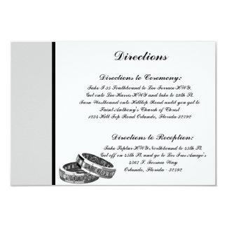 3.5 x 5 Direction Card His/Hers Diamond Wedding Ba 9 Cm X 13 Cm Invitation Card
