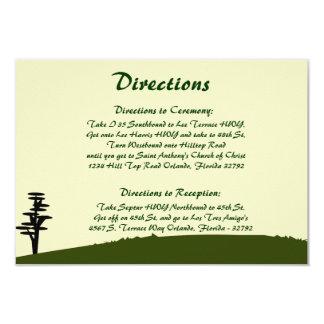 3.5 x 5 Direction Card Japanese Green Hill Top Tem 9 Cm X 13 Cm Invitation Card