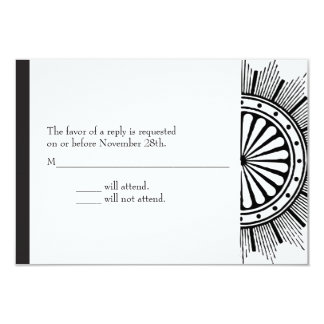 3.5x5 Art Deco Response Card