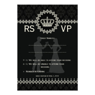 "*3.5x5"" Modern Laces Crown Wedding Passport  RSVP Personalized Invitations"