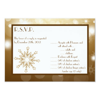 3.5x5 R.S.V.P Reply Card Christmas Copper Blur 9 Cm X 13 Cm Invitation Card