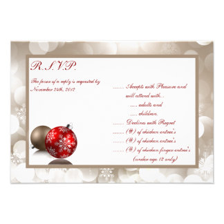 3 5x5 R S V P Reply Card Winter Blur Personalized Invites
