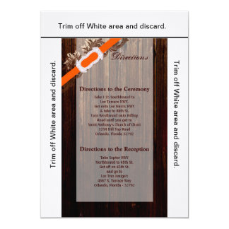 3.5x6 Directions Card Barn Wood Diamond Ribbon 13 Cm X 18 Cm Invitation Card