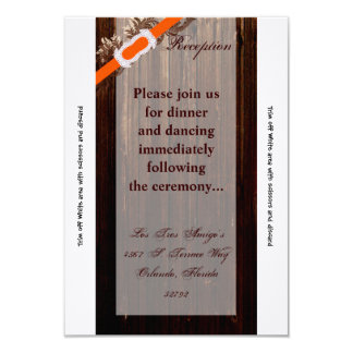 3.5x7 Reception Card Barn Wood Diamond Ribbon Band 9 Cm X 13 Cm Invitation Card