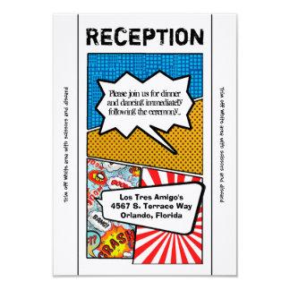 3.5x7 Reception Card Comic Strip Book Pop Art Coup 9 Cm X 13 Cm Invitation Card