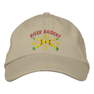 3/60th Inf. Crossed Rifles River Raiders Hat Embroidered Baseball Cap