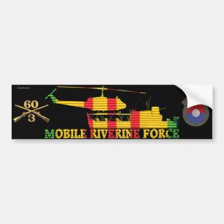 3/60th Inf. MRF ATC(H), Patch & Rifles Sticker Bumper Sticker