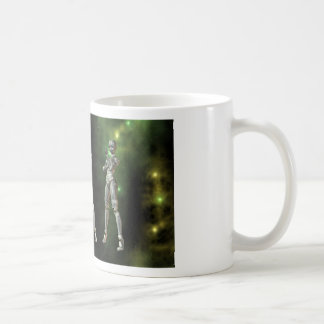 3 aikobots in space basic white mug