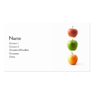 3 Apples Double-Sided Standard Business Cards (Pack Of 100)