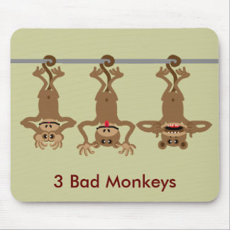 3 bad monkeys mouse pad