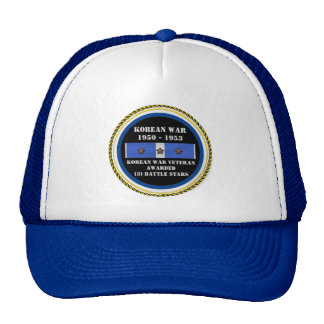 3 BATTLE STARS KOREAN WAR VETERAN CAP