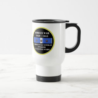 3 BATTLE STARS KOREAN WAR VETERAN MUG