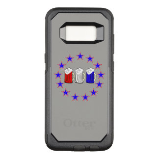 3 Beercent Red White and Blue OtterBox Commuter Samsung Galaxy S8 Case
