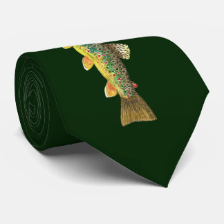 3 Big Beautiful Trout Fly Fishing Fishermen Tie