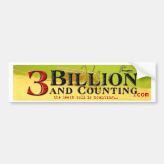3 Billion and Counting Title Bumper Sticker