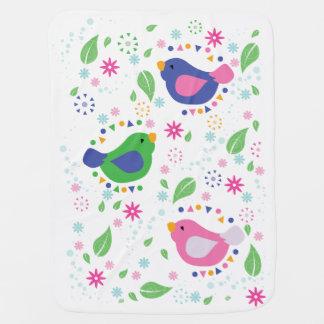 3 Birds Baby Blanket