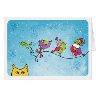 3 Birds on a Branch Card