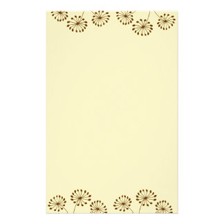 3 Brown Flowers Stationery