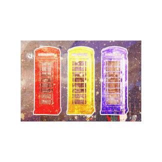 3 Calls for London Canvas Print