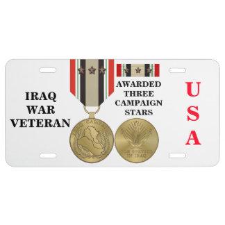 3 CAMPAIGN STARS IRAQ WAR VETERAN