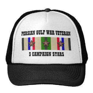 3 CAMPAIGN STARS / PERSIAN GULF WAR VETERAN CAP