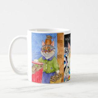 3 cat images silly mug, super-size coffee mug