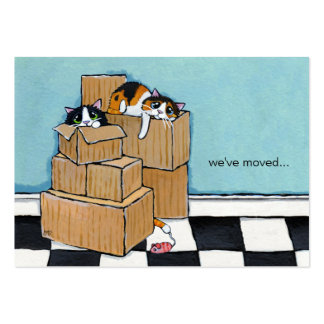 Moving house business cards 272 moving house busines card for We have moved cards templates