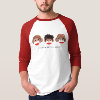 3 cheeky little monkeys Logo Raglan T-Shirt