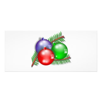3 Christmas baubles illustration Custom Rack Card