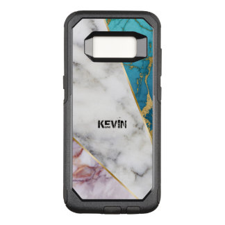 3 Colors Marble geometric Design OtterBox Commuter Samsung Galaxy S8 Case