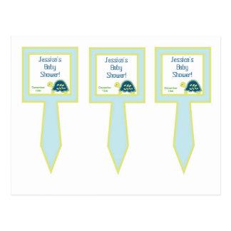 3 Cup Cake Picks Blue Sea Turtles Postcard