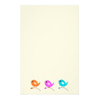 3 Cute Birds Stationery