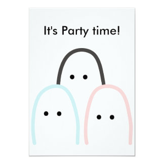 "3 cute ""finger"" figures drawing for party card"